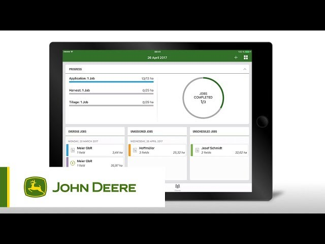 John Deere | MYJOBSMANAGER: How to use the Dashboard