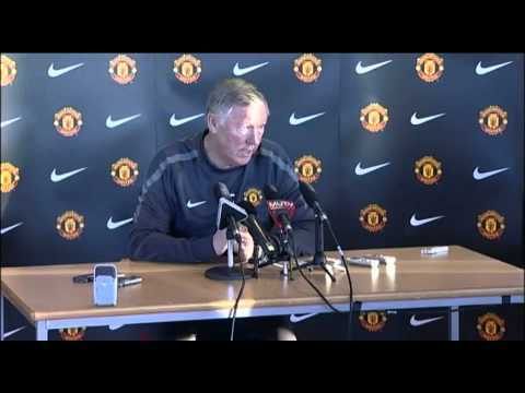 "Sir Alex Ferguson addresses tabloid journalists before a press conference. ""You lie. Your job is to tell the tell the truth, if you can't do that you're in the wrong job. Do I make myself clear?"""