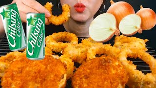 Onion rings, fried potato , 양파…