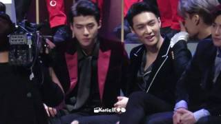 vuclip [Fancam] 161202 Exo reaction to Baekhyun Suzy Dream performance Sehun focus @2016 MAMA