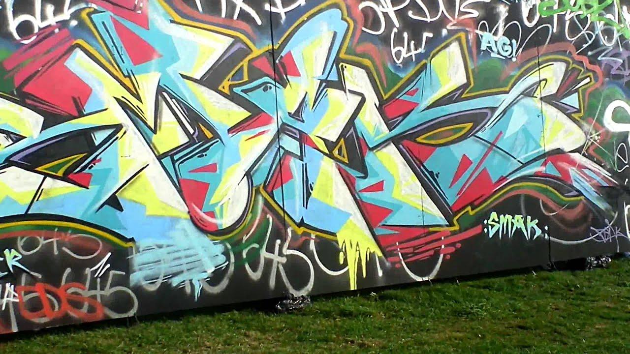 Graffiti wall uk - Graffiti Wall Boom Bap Uk Hip Hop Festival 2012 Cctv
