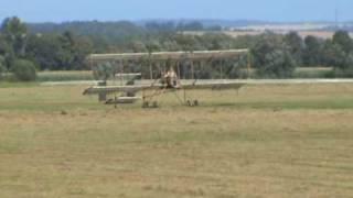 Ultralight Farman III the first flight