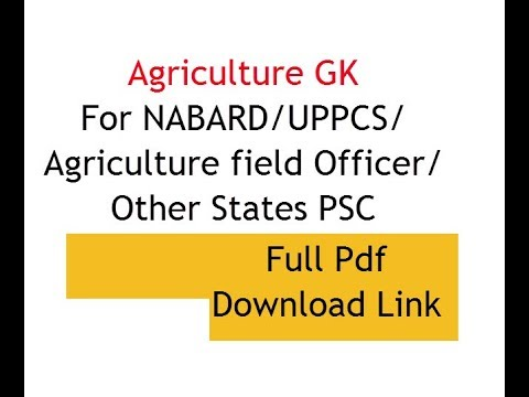 Agriculture g k pdf download