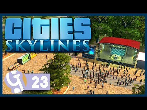 Concerts DLC | Let's Play Cities: Skylines #23
