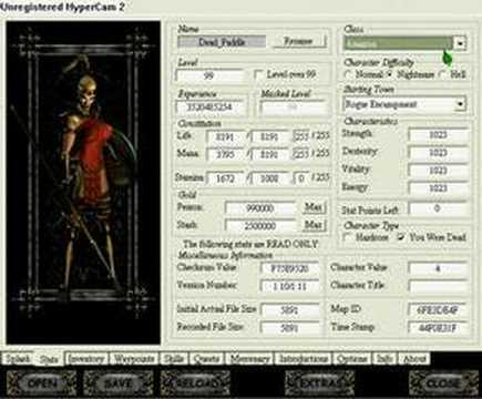 Diablo 2- Hero Editor(Read Description)