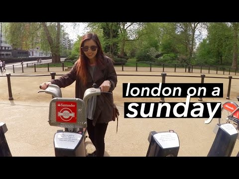London on a Sunday: Flower Markets, Street Food, & Biking Around 🚲