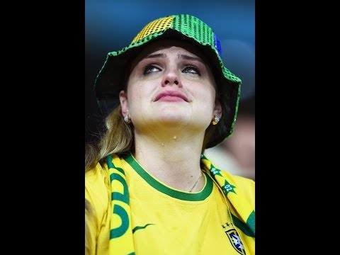 Brazilian Crying to death Brazil Vs Germany 1-7 Fifa SemiFinal