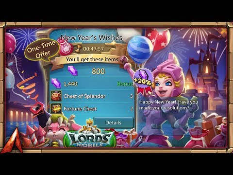 New Pack New Year's Wishes Review! Lords Mobile