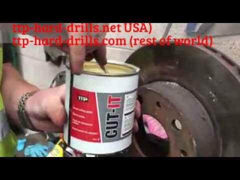 How to drill through metal using lubricant paste