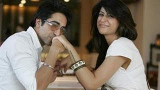 Actor Ayushmann Khurrana with Wife romantic pics