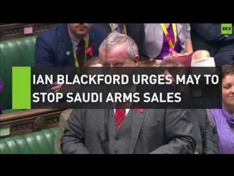 Ian Blackford urges May to stop Saudi arms sales