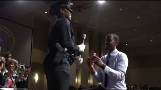 Detroit Police Department graduation ceremony ends in marriage proposal