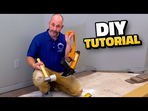 How To Install Engineered Hardwood Flooring!