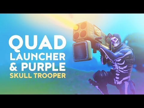 REACTING TO NEW QUAD LAUNCHER AND PURPLE SKULL TROOPER - (Fortnite Battle Royale - Dakotaz)
