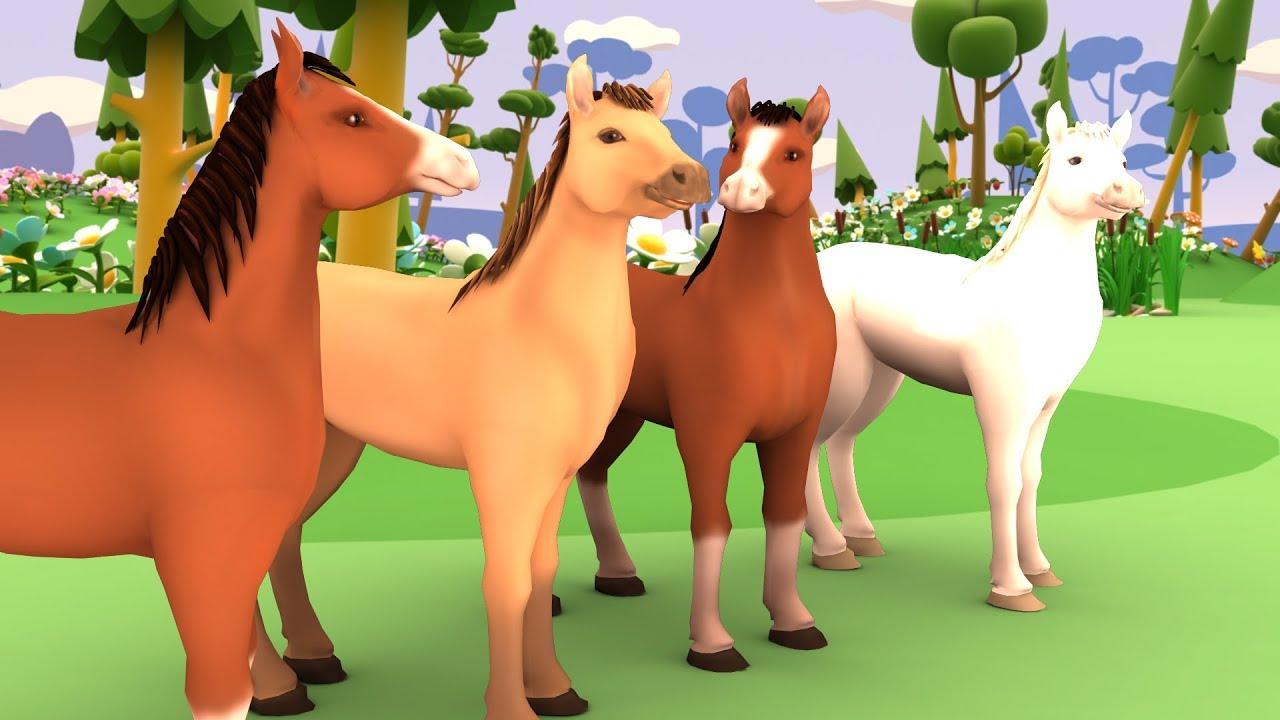 เพลงม้าวิ่งกรับกรับ เวอร์ชั่นใหม่ การ์ตูน 3d เพลงเด็กอนุบาล