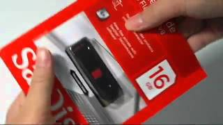 Sandisk Cruzer Glide USB Flash Drive 16GB Unboxing and Review