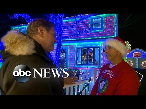 "Stamford resident Tony Pampena is a contestant on ABC's ""The Great Christmas Light Fight,"" where families battle it out for the best displays."