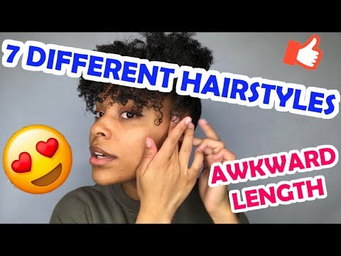 7-different-natural-hairstyles|-awkward-length|-simple-&-easy