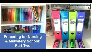 Preparing for Nursing & Midwifery School: Part 2, Stationery ✏️