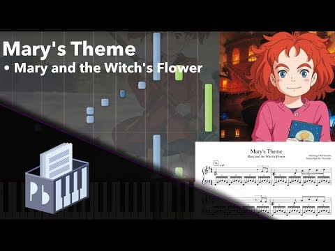 Mary's Theme - Mary and the Witch's Flower [Piano Tutorial] (Synthesia) // Pianobin + Sheets/Midi