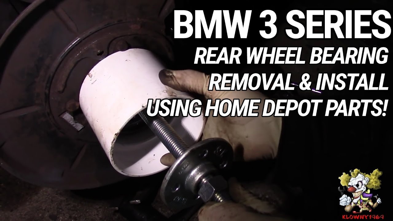 Rear Wheel Bearing Removal & Install - USING HOME DEPOT ...
