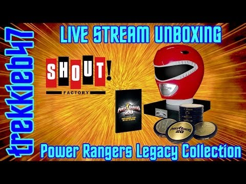 Shout! Factory POWER RANGERS LEGACY COLLECTION DVD SET UNBOXING - TREKKIEB47