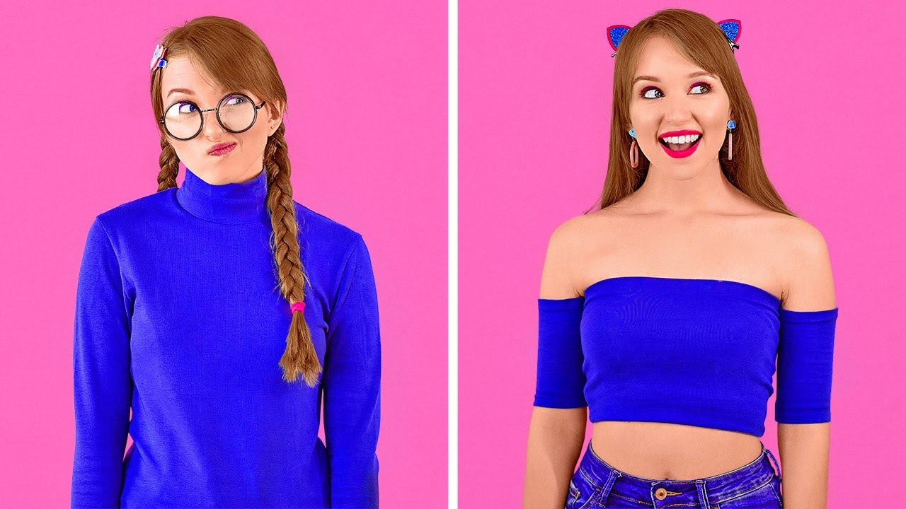 멋진 DIY 옷 팁 || 123 GO!가 준비한 여성스러운 옷 변신 아이디어