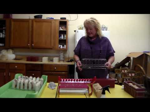 Cutting Homemade Soap at the Cornerstone Market with Essential Soap