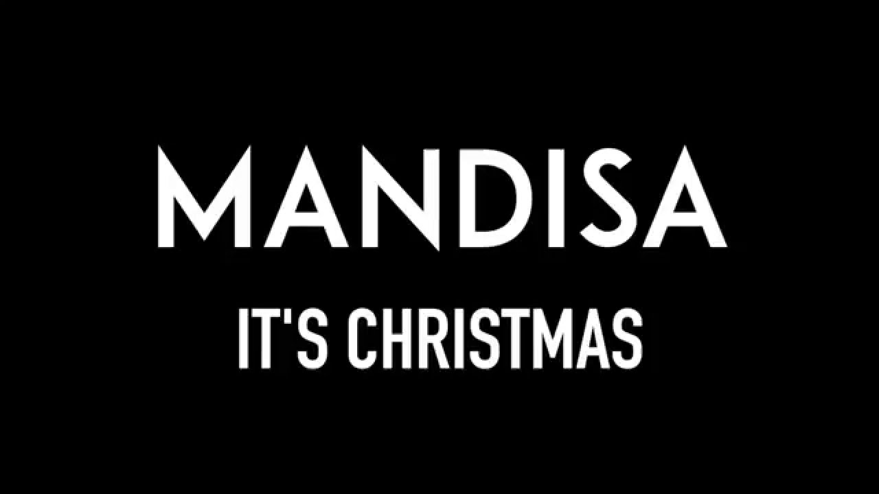 MANDISA | It\'s Christmas | Lyrics - YouTube