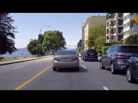 Downtown Vancouver BC Canada 2017  - Beach Avenue - English Bay