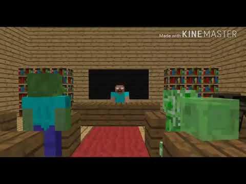 Canavarlar Okulu - Minecraft - Yemek Yarışı