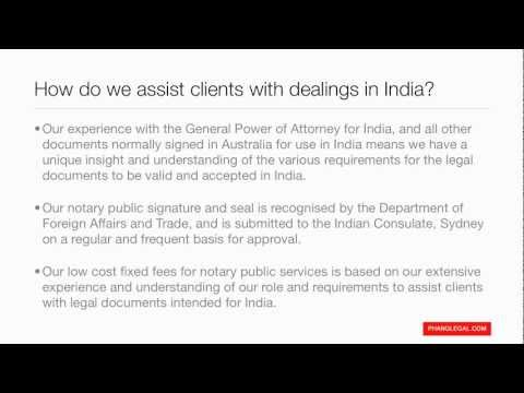 Phang Legal - Notary Public Services - General Power of Attorney for India