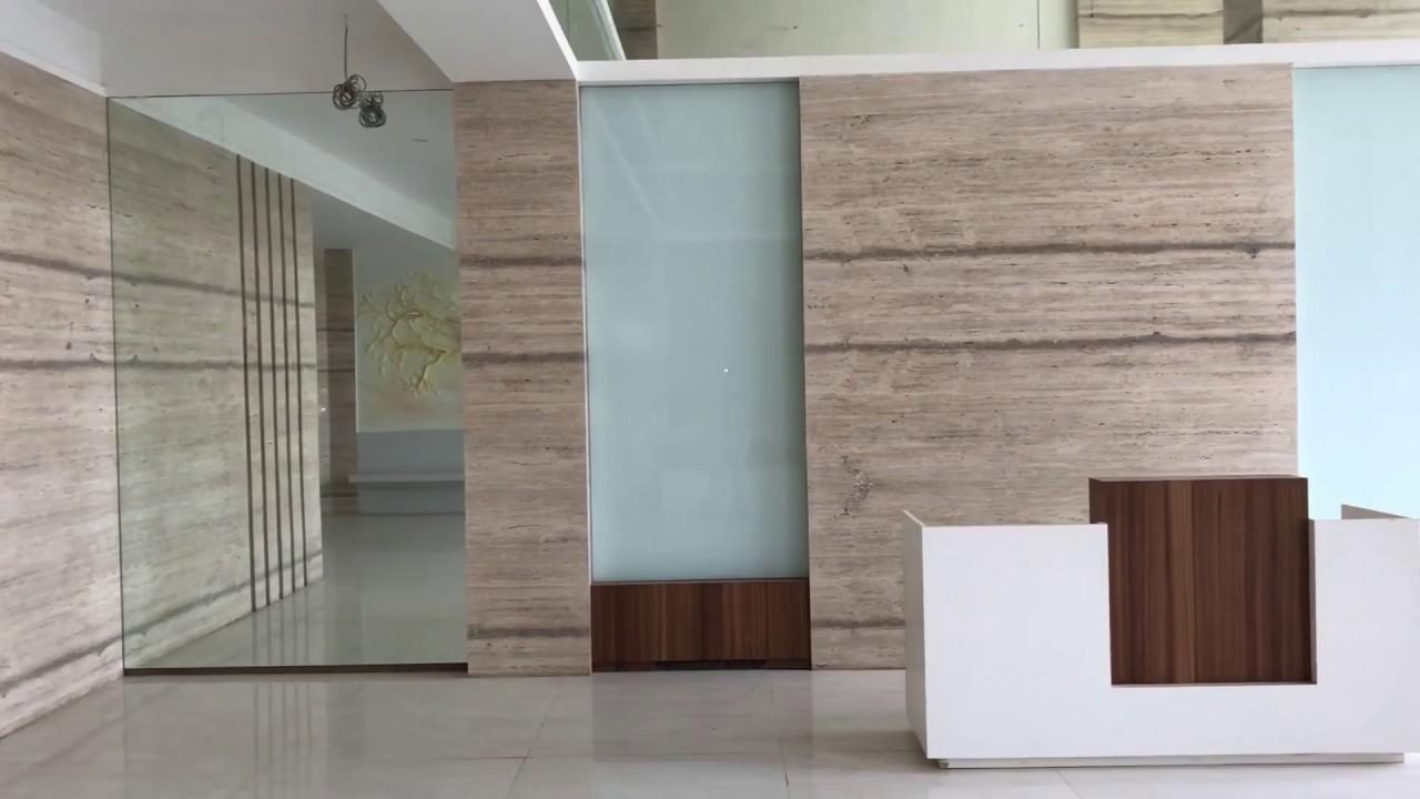 Building Entrance Lobby Design - Italian Marble - YouTube
