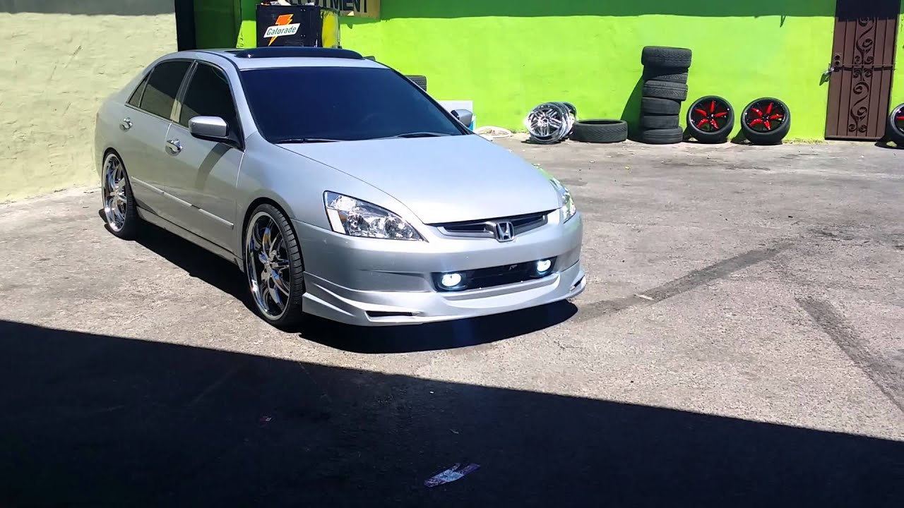 22 inch rims on honda accord youtube. Black Bedroom Furniture Sets. Home Design Ideas