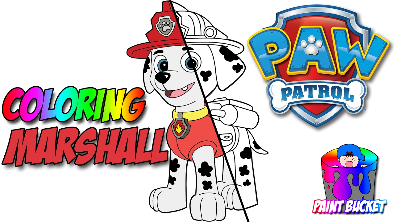 paw patrol coloring page marshall nickelodeon nick jr coloring book for kids to learn colors