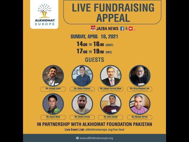 Live Fundraising Appeal Alkhidmat Europe
