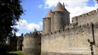 Les remparts de la Cité de Carcassonne (Aude)