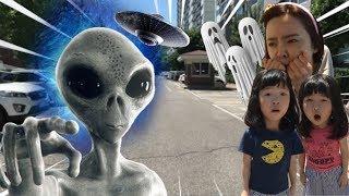 [외계인특집] 할로윈 외계인대소동! 외계인들이 쳐들어왔어요. 유령외계인 엄마를 구해라 Halloween Alien tales TOP3  l Ghost Alien attack