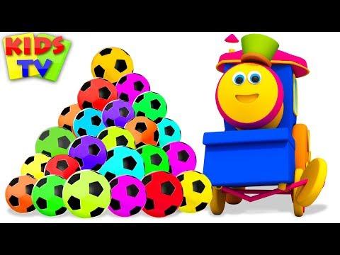 Learn Colors With Soccer Balls   Bob The Train Fun Series - Kids TV