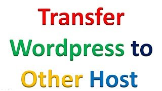 transfer wordpress sites to another host or domain with in few minutes Screen Stream