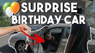 SURPRISING MY DAD WITH A CAR FOR HIS BIRTHDAY