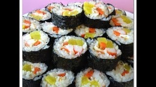 How To Make Korean Sushi Rolls Kimbap Recipe