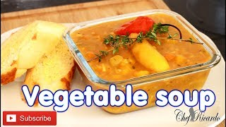 Vegetable soup The best Vegetable soup for the winter weather  Jamaican Chef