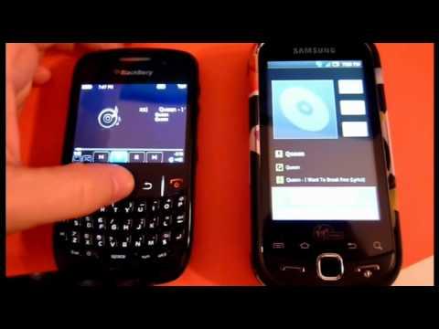 Virgin Samsung Intercept vs Blackberry 8530