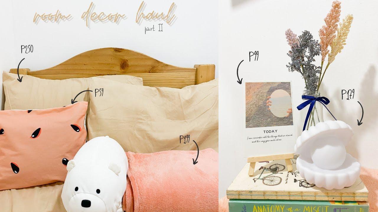 room decor haul part 2 (Japan Homes, Miniso, Shopee)