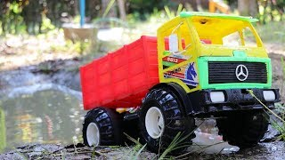 Big Dump Truck In The Gross Mud - Toys Car For Kids