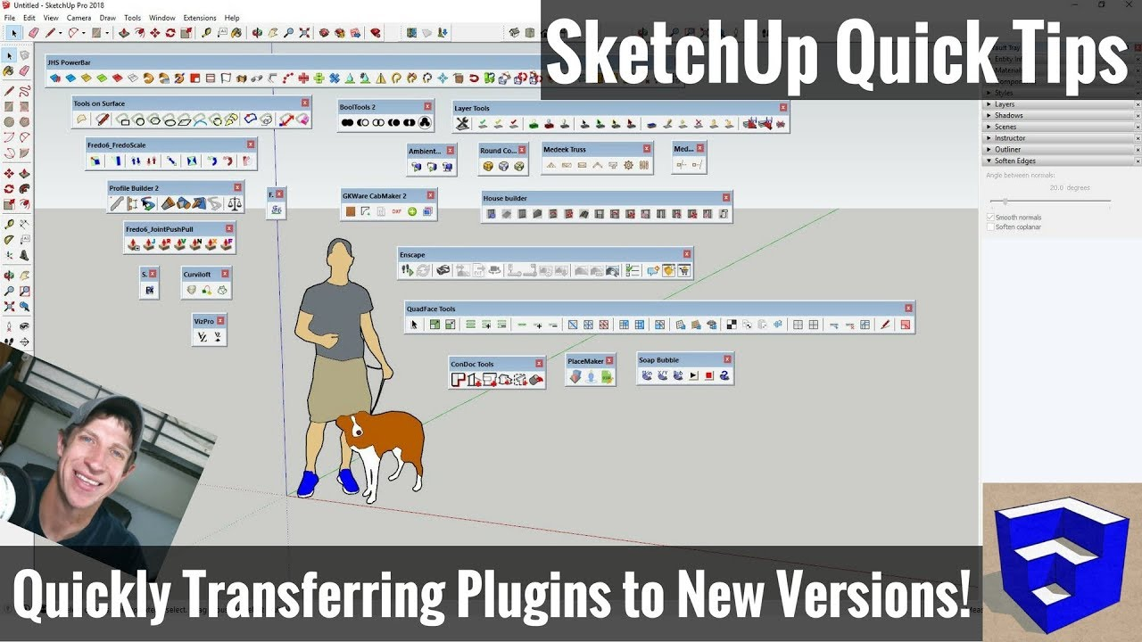 Move Plugins and Extensions from SketchUp 2017 to SketchUp