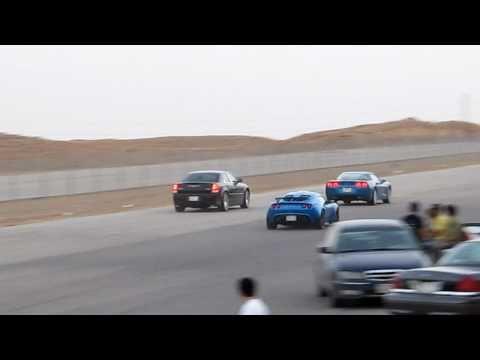 Supercharged 300C SRT8 vs Corvette C6 LS3...