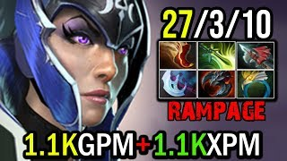 [Luna] God Farming Speed 1.1kGPM + 1.1kXPM With 27Kills by Accelgd | Dota 2 FullGame