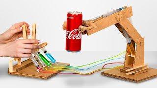 Comment fabriquer un bras robot hydraulique avec du carton ?